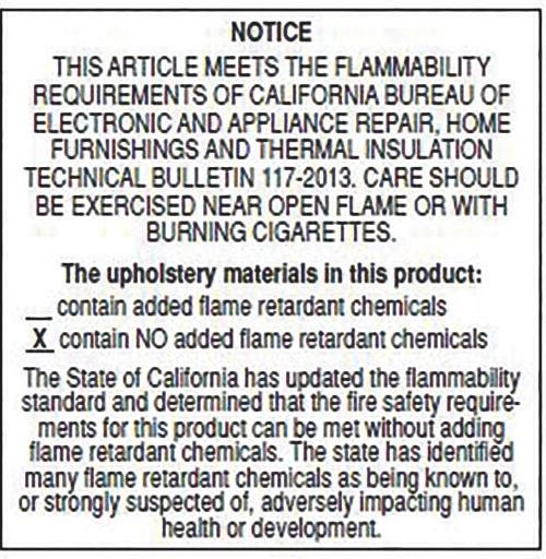 Flammability notice image